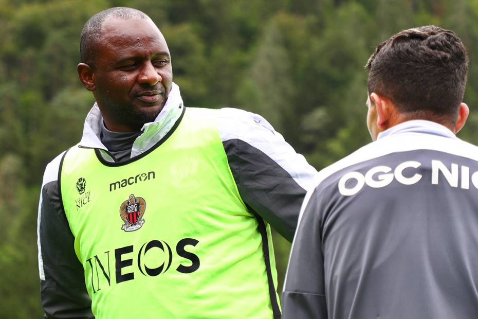 Patrick Vieira é o técnico de Bambu no Nice   Crédito:  Jean-Marc Ponte/Site oficial Nice
