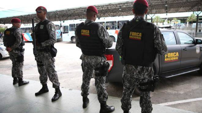 Agentes da Força Nacional chegaram à região na semana passada.