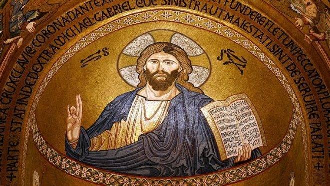 Pantocrator, na Capela Palatina, em Palermo (Itália).