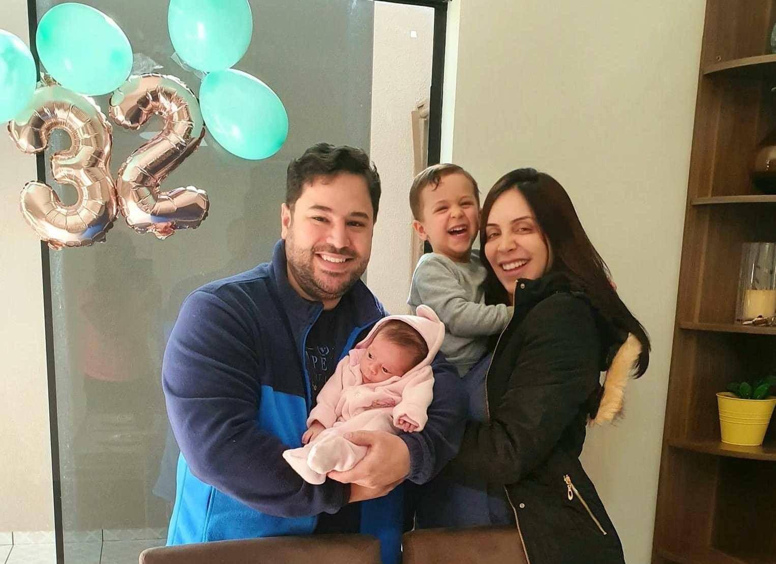 Lucas Pires Augusto com a família