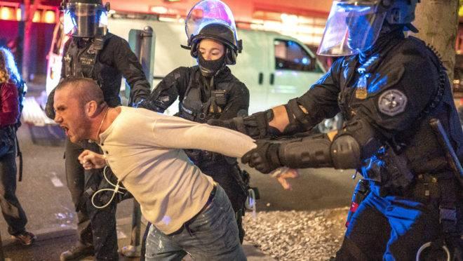morte protesto portland