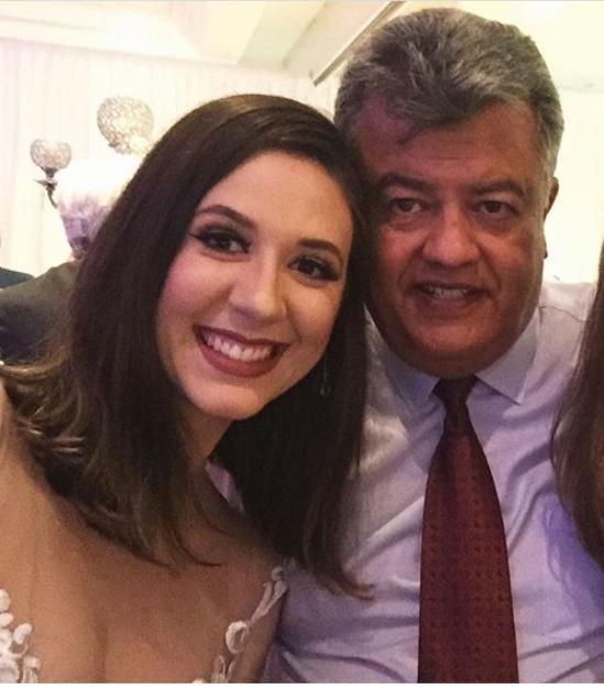 Letícia Caroline e seu pai, José Augusto.