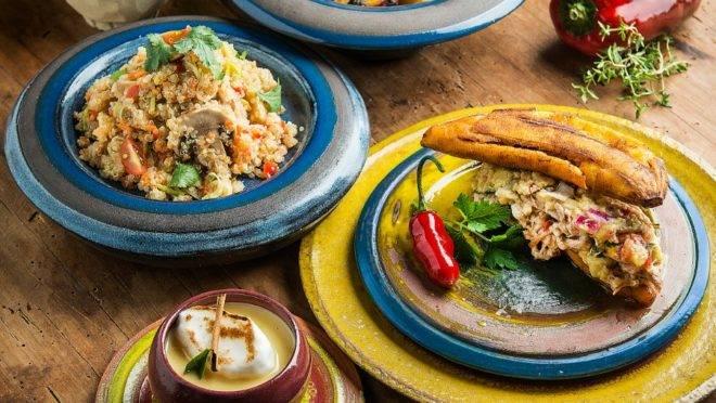 Ingredientes típicos da cozinha latino-americana.