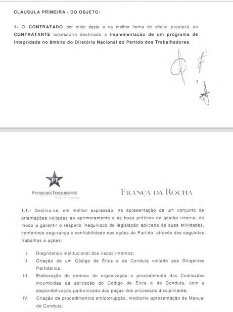 Descrição dos serviços do contrato para formalizar boas práticas no PT.