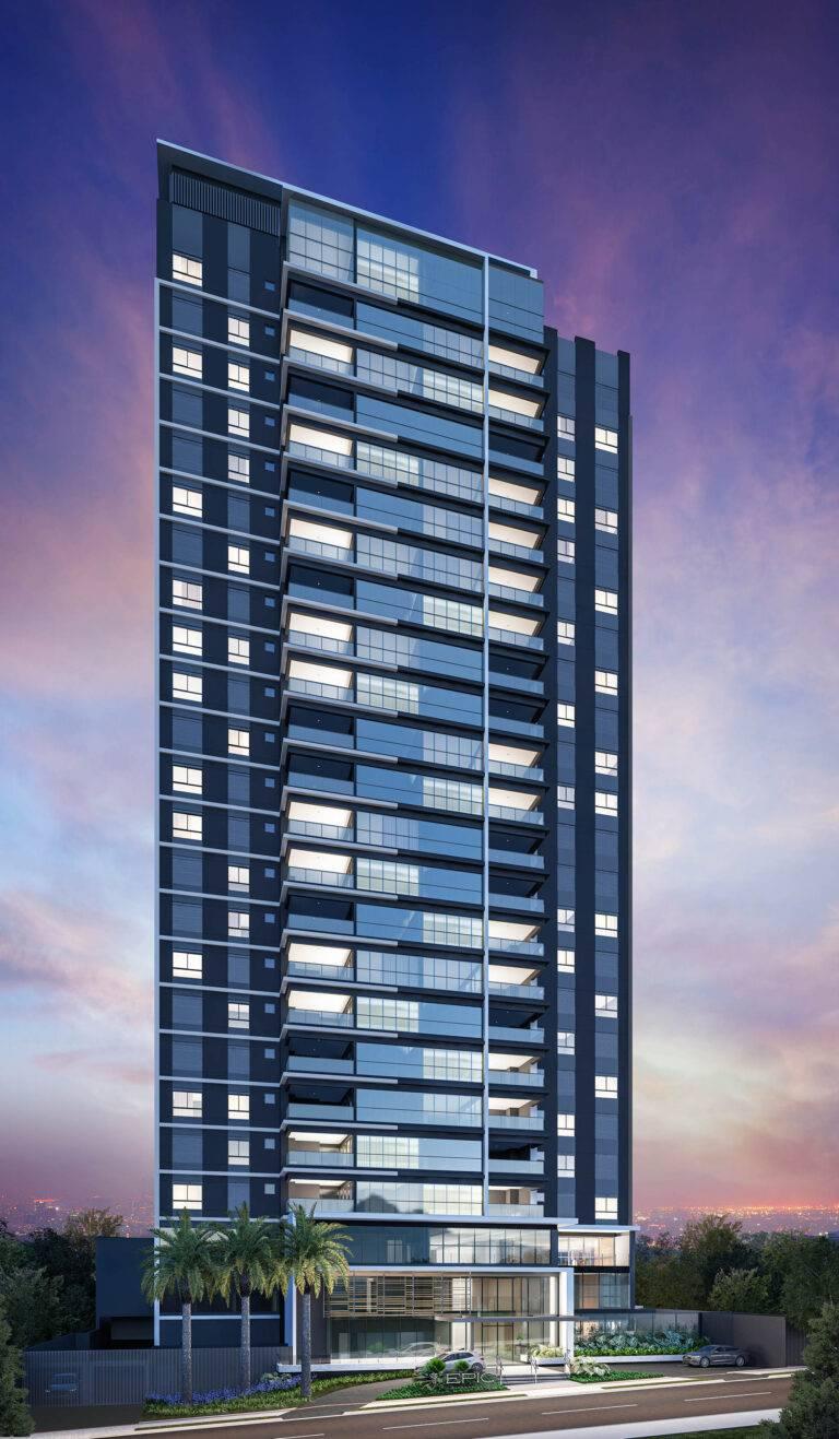 Fachada do Edifício Epic, em Londrina. Imagem: divulgação