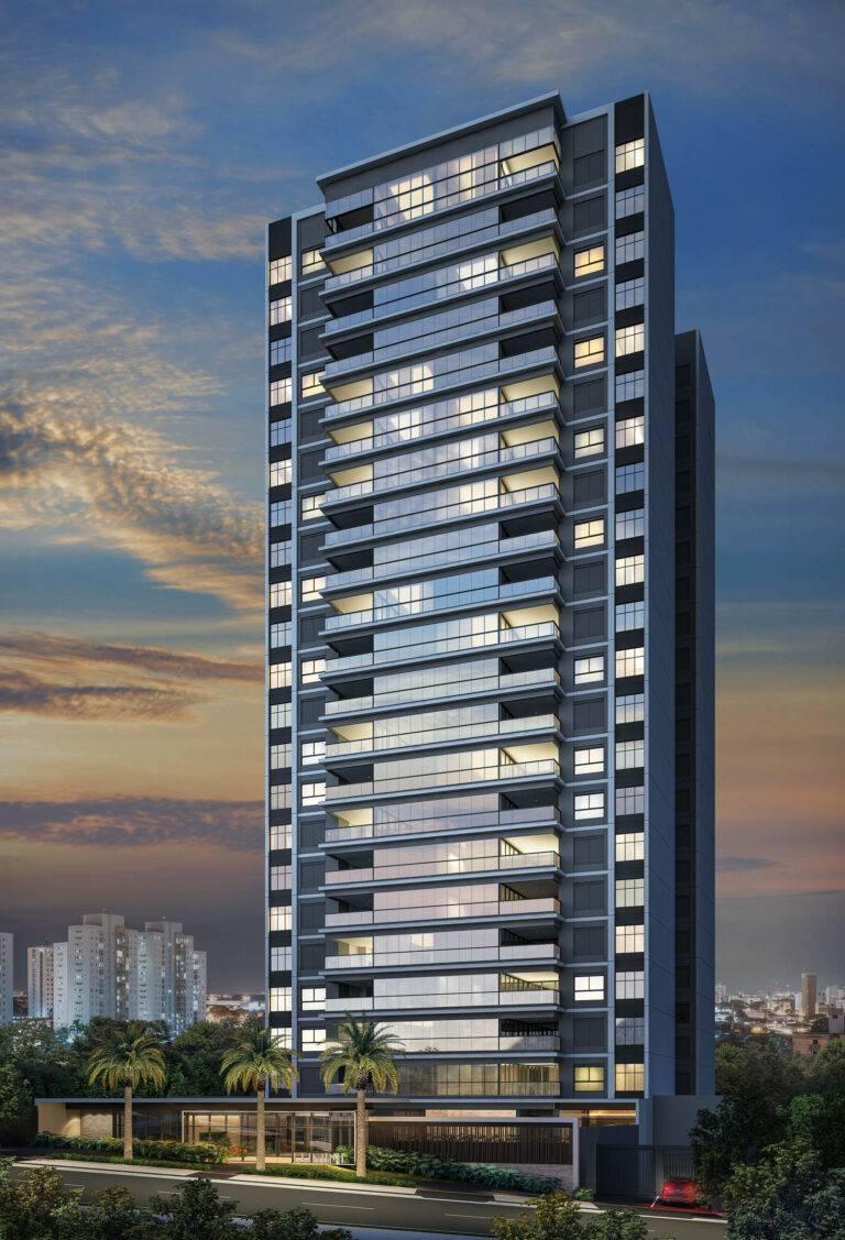 Fachada do Edifício Lumini, em Londrina. Imagem: divulgação