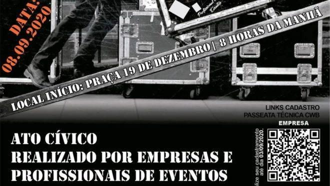 Ato foi convocado por empresas e profissionais de eventos do Paraná