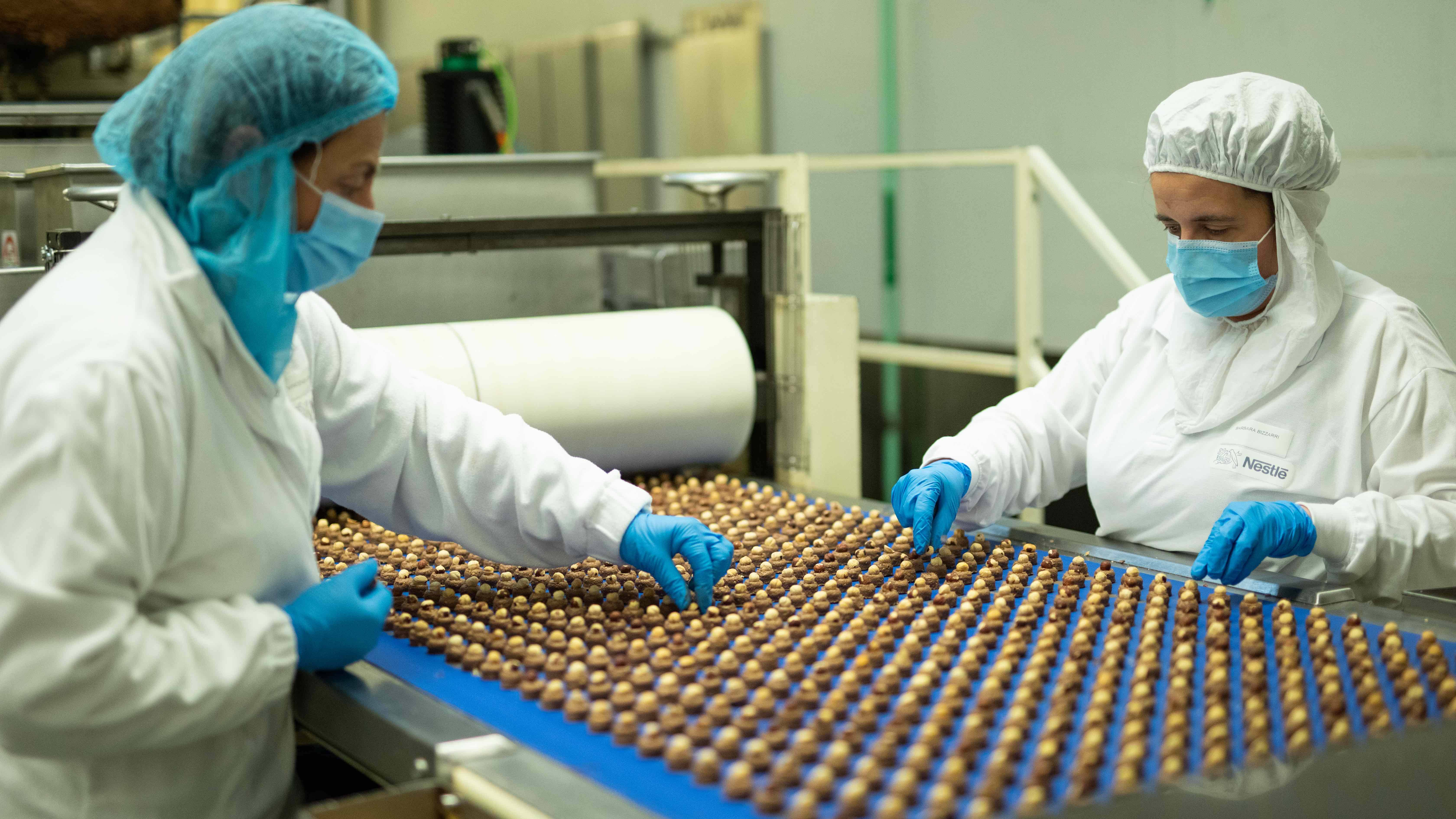 Produção baci chocolate