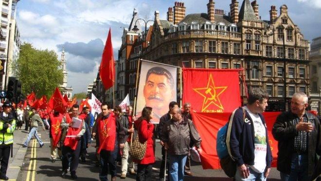 Manifestação de comunistas em Londres, no dia 1.º de maio de 2009.