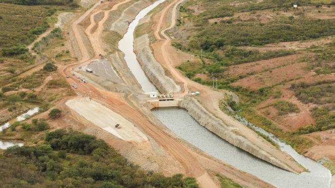 Trecho do canal do Rio São Francisco, no estado do Ceará. Foto: Isac Nóbrega/PR