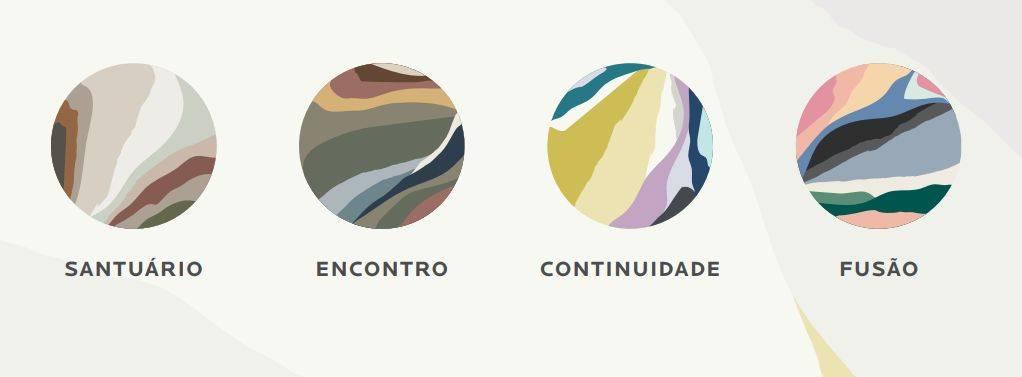 As 40 tonalidades contempladas nas quatro paletas da marca. Imagem: Reprodução