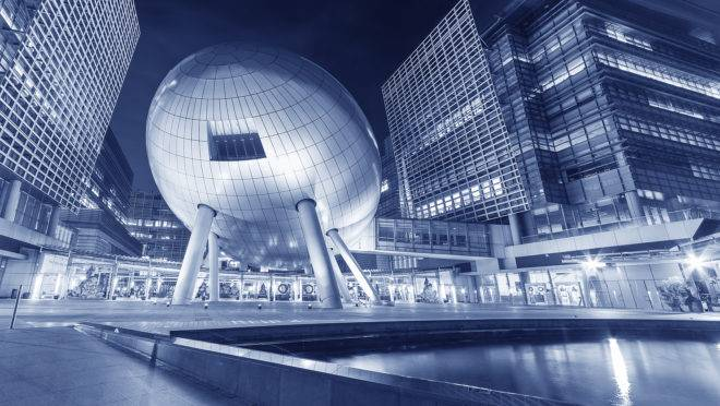 Hong Kong, China – December 20, 2016 : Hong Kong Science and Technology Parks. Run by HK Government to provide newly set up companies facilities, services and a dynamic environment