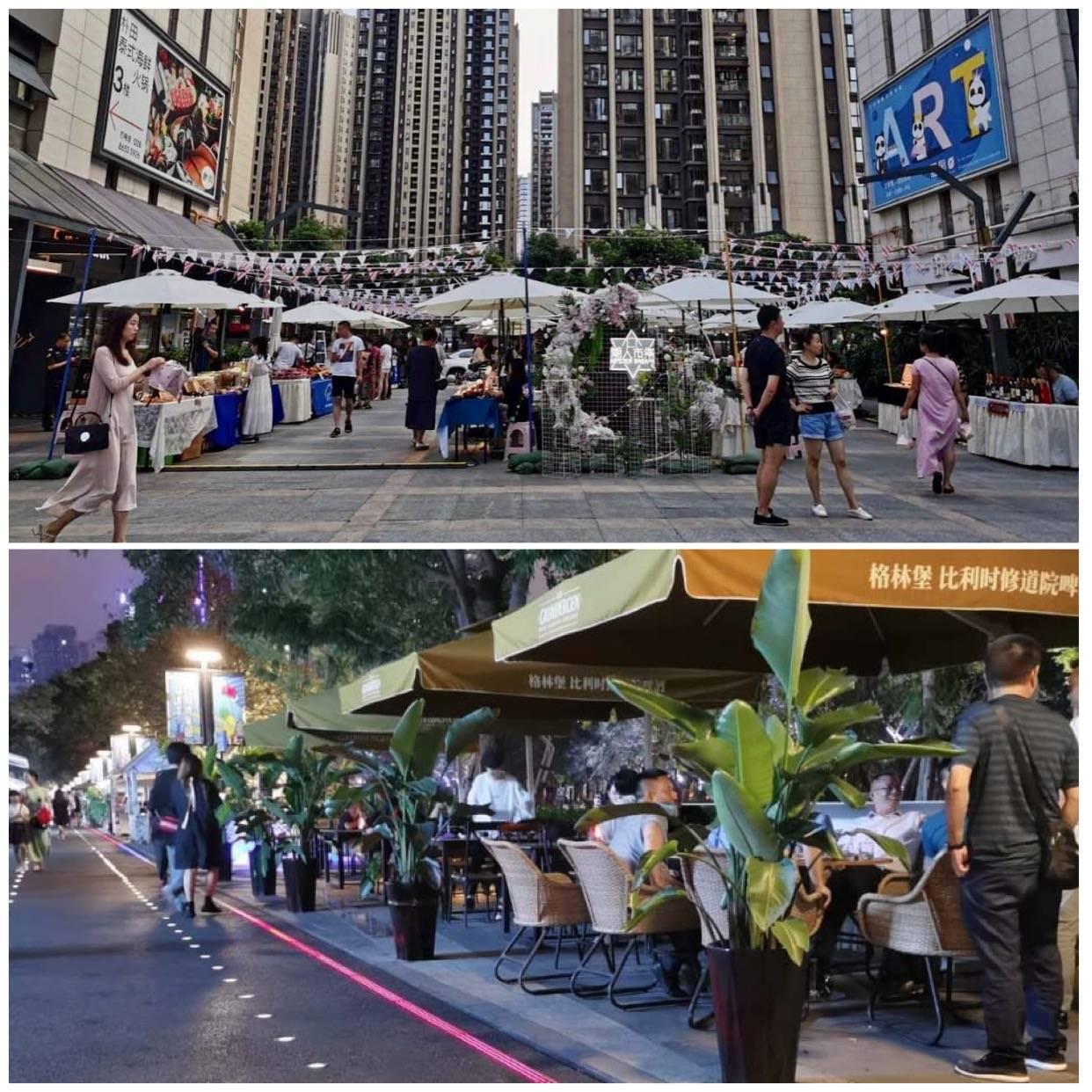 O apoio aos pequenos negócios, pequenos restaurantes é visto pelo aumento das feirinhas em calçadas de shopping, fechamento de ruas e o aumento de eventos temáticos pela cidade.