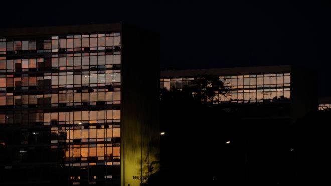 A Esplanada dos Ministérios, em Brasília.