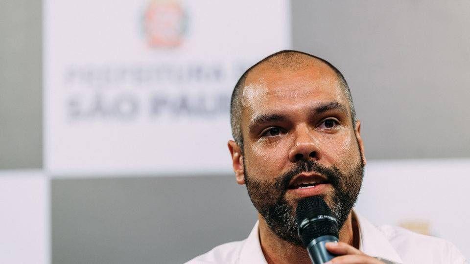 Candidato a reeleição, Bruno Covas.