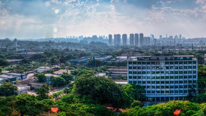 Panorama da Cidade Universitária da Universidade de São Paulo (USP).