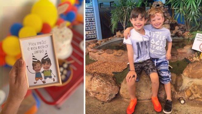 """Assim que a mãe perguntou ao pequeno Mateus Mandetta a temática que ele preferia, o menino disse que queria seu irmão: """"foi muito fofo""""."""