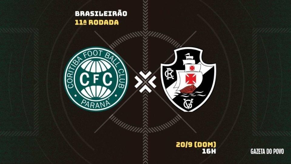 Sob pressão, Coritiba enfrenta o Vasco; tudo sobre o jogo!