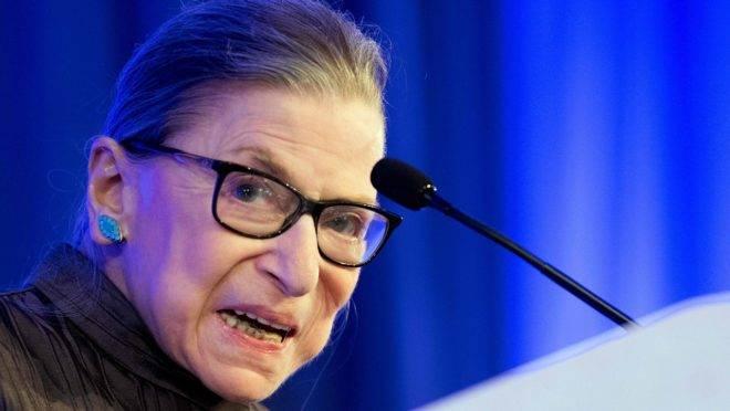 A juíza da Suprema Corte dos EUA Ruth Bader Ginsburg