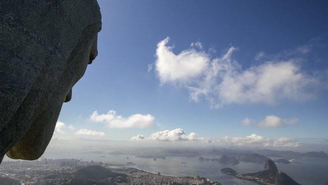 Vista do Cristo Redentor, no Rio de Janeiro