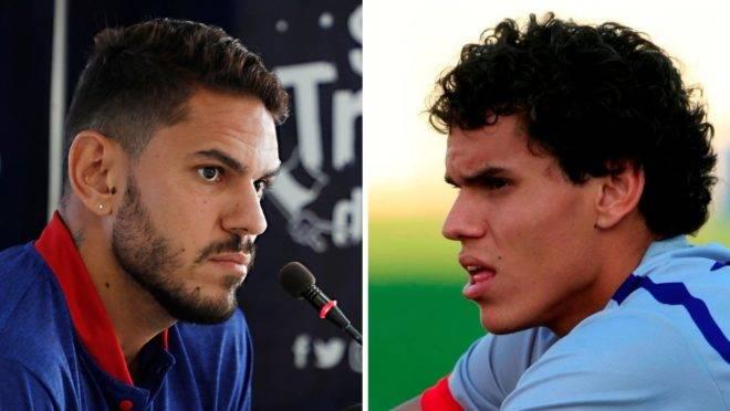 Fabrício em dois tempos: atualmente, capitão do Paraná, e na primeira passagem pelo clube, aos 18 anos.