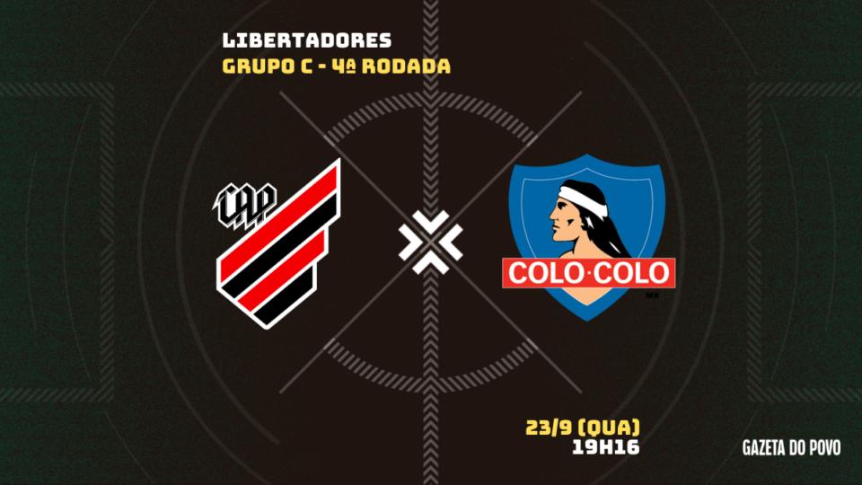 Athletico recebe o Colo-Colo em duelo de líderes; Tudo sobre o jogo