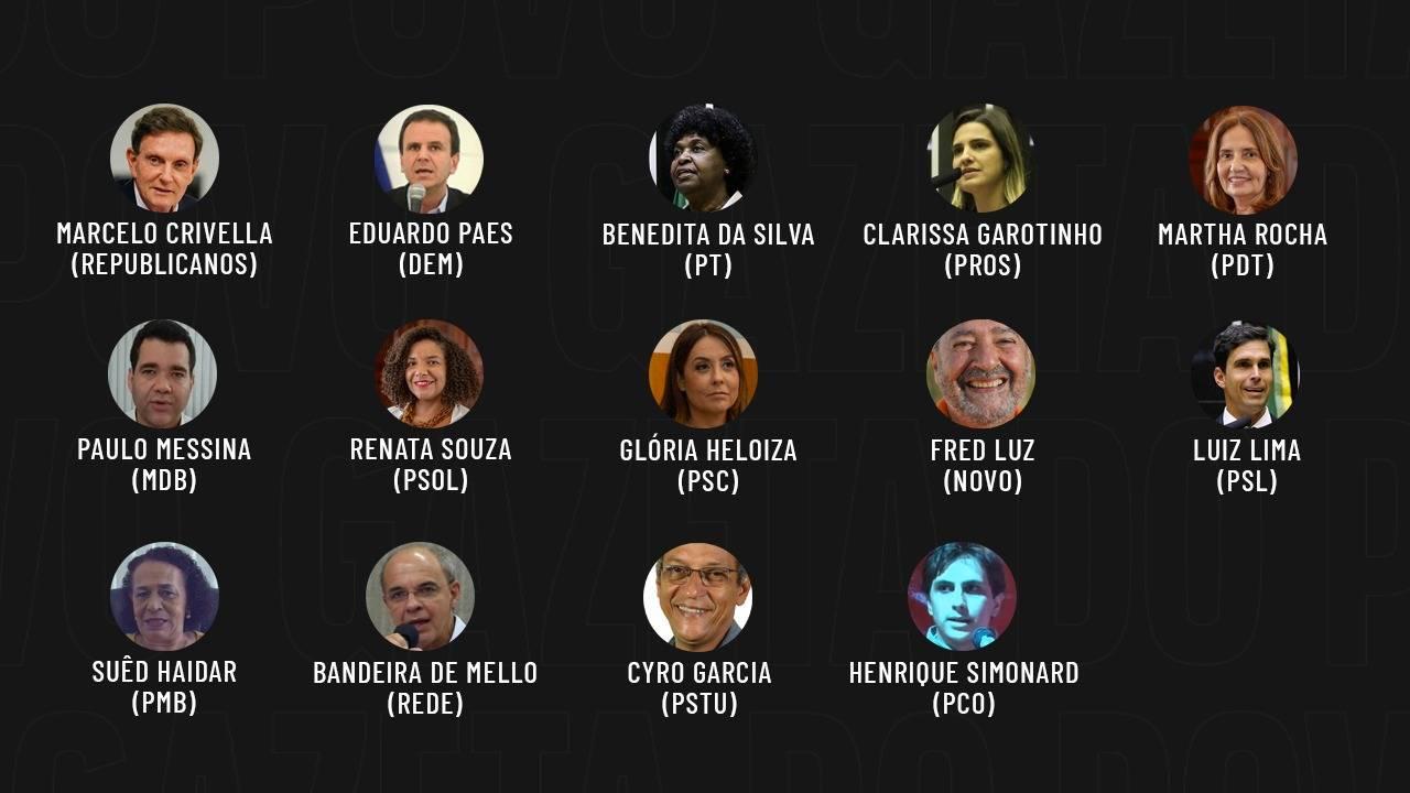 Eleições 2020: candidatos a prefeito do Rio de Janeiro