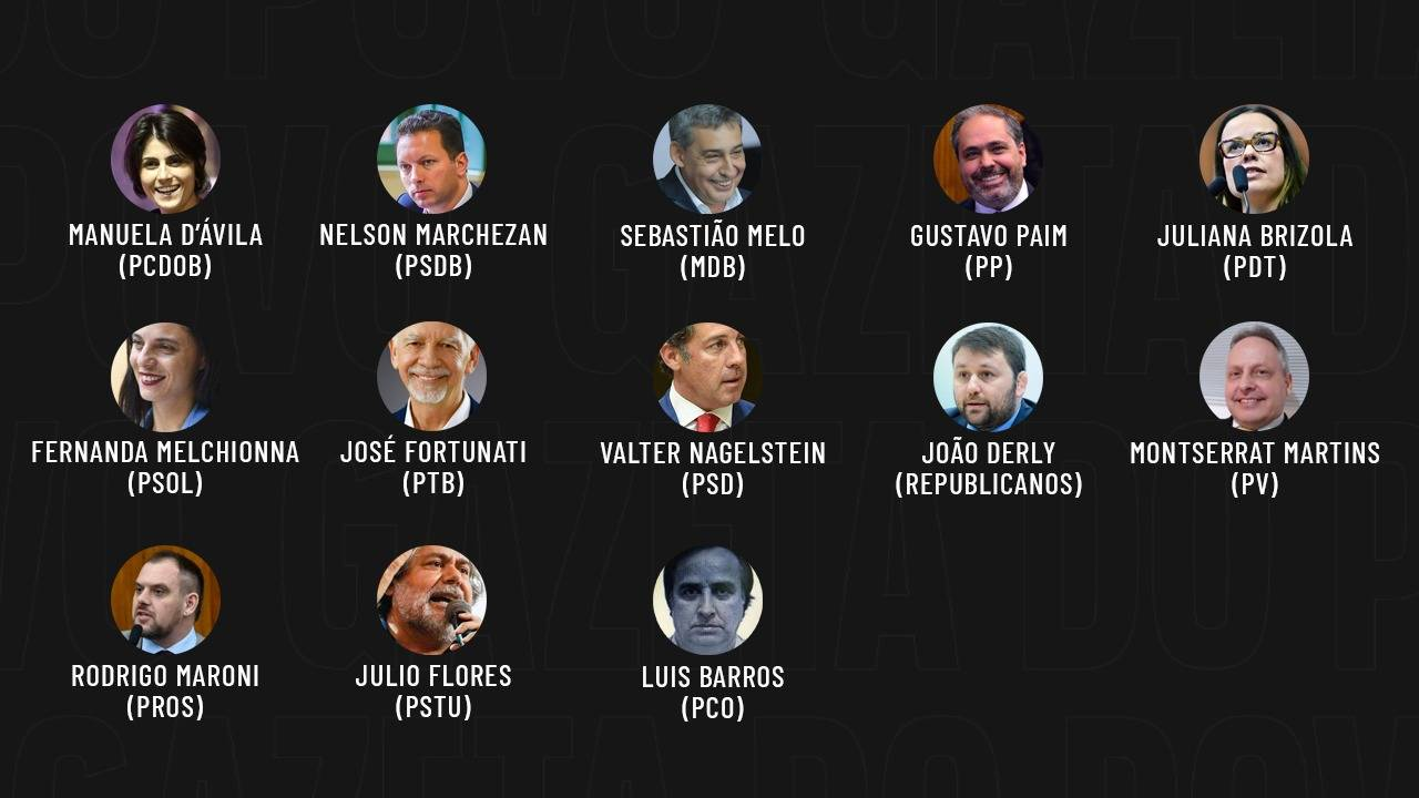 Eleições 2020: candidatos a prefeito de Porto Alegre.