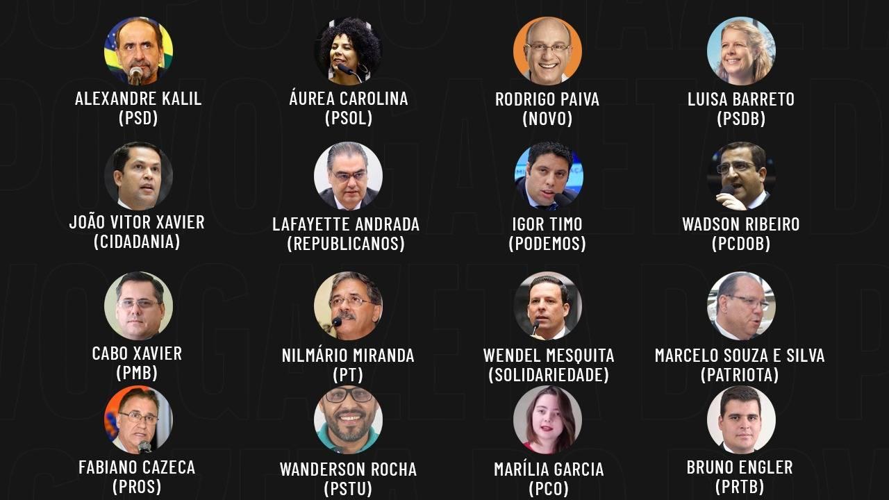 Eleições 2020: candidatos a prefeito de Belo Horizonte