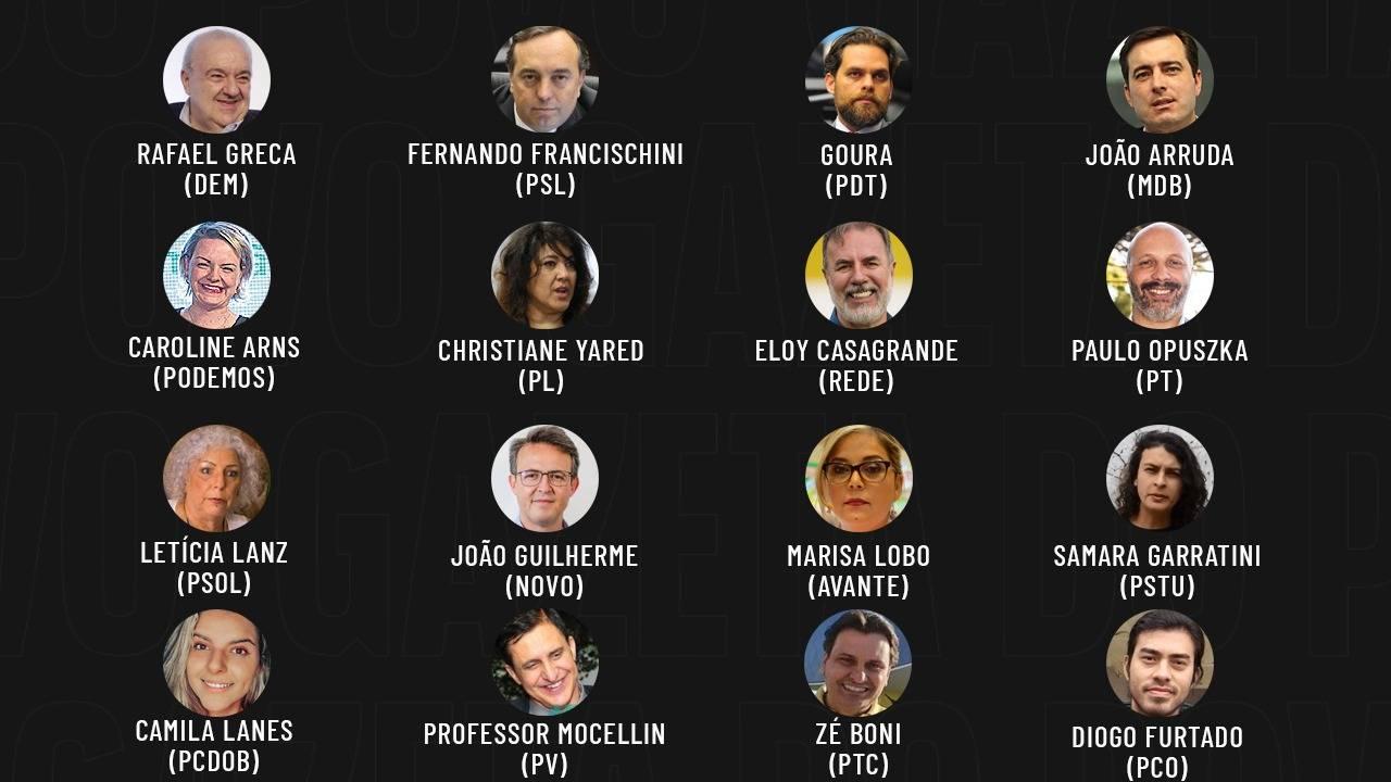 Eleições 2020: candidatos a prefeito de Curitiba