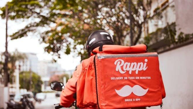 Entregador do aplicativo Rappi.