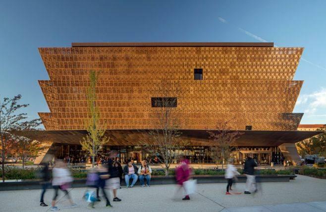 Museu Nacional de História e Cultura Afro-americana Smithsonian. Foto: Nic Lehoux/RIBA/Reprodução