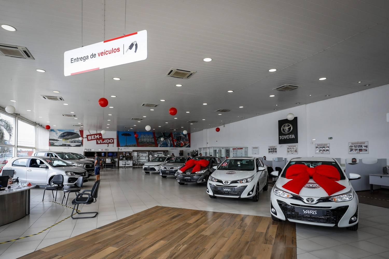 Showroom da concessionária Toyota Sulpar