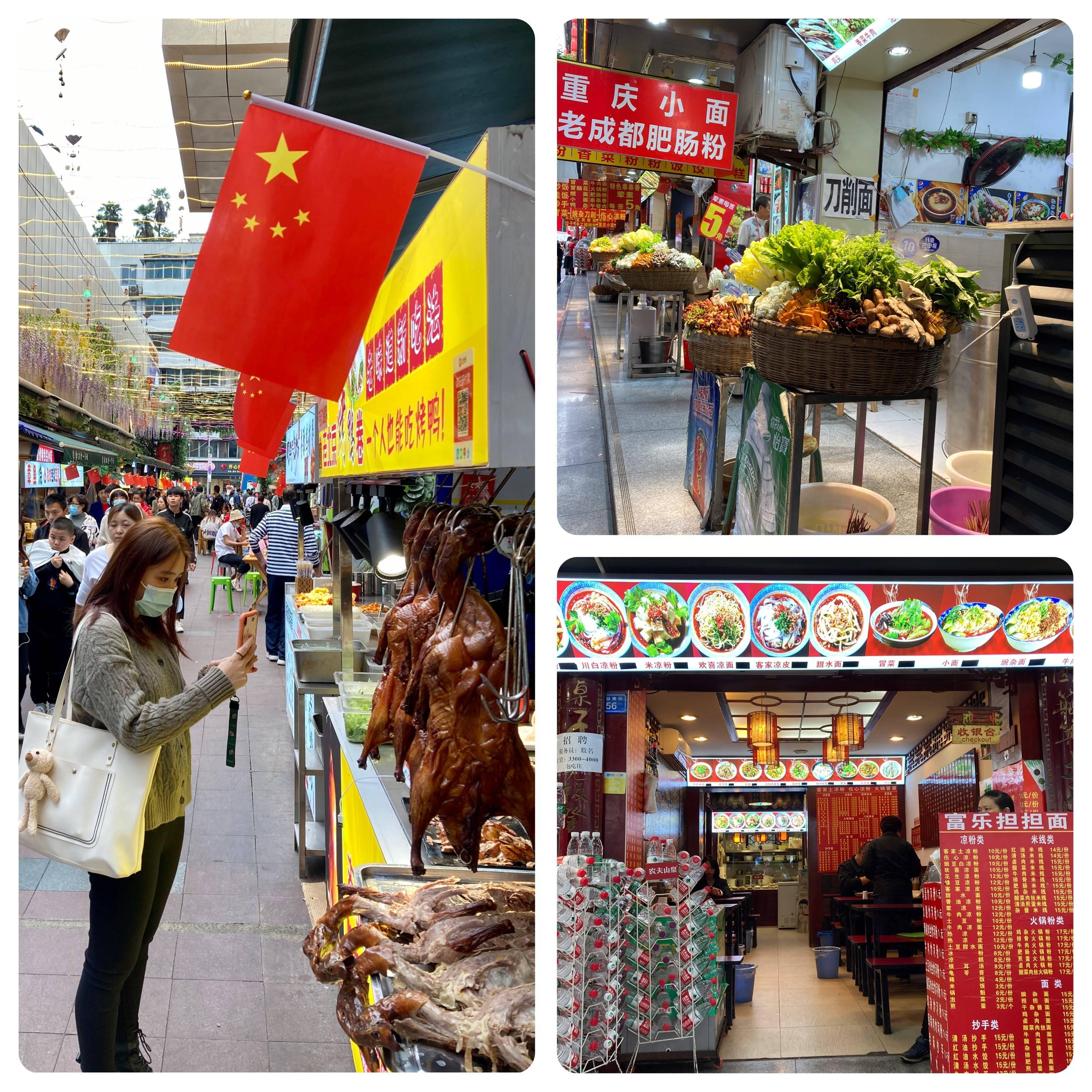 Feirinhas gastronômicas, calçadões, lojinhas, um festival de comida na rua.