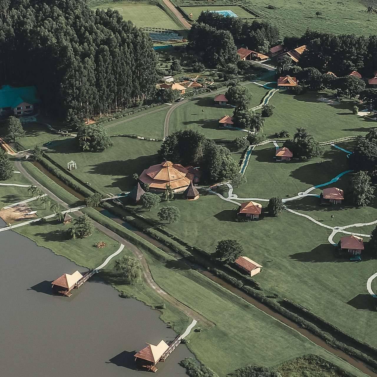 O hotel Virá Charme Resort, em Fernandes Pinheiro, no interior do Paraná, fica a 154 km de Curitiba. Foto: Divulgação
