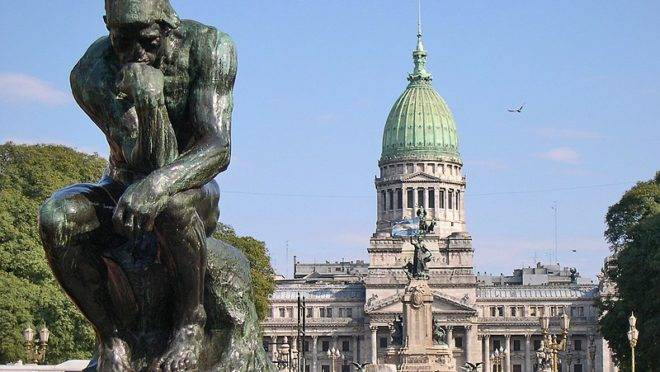 Praça do Congresso em Buenos Aires, capital argentiina