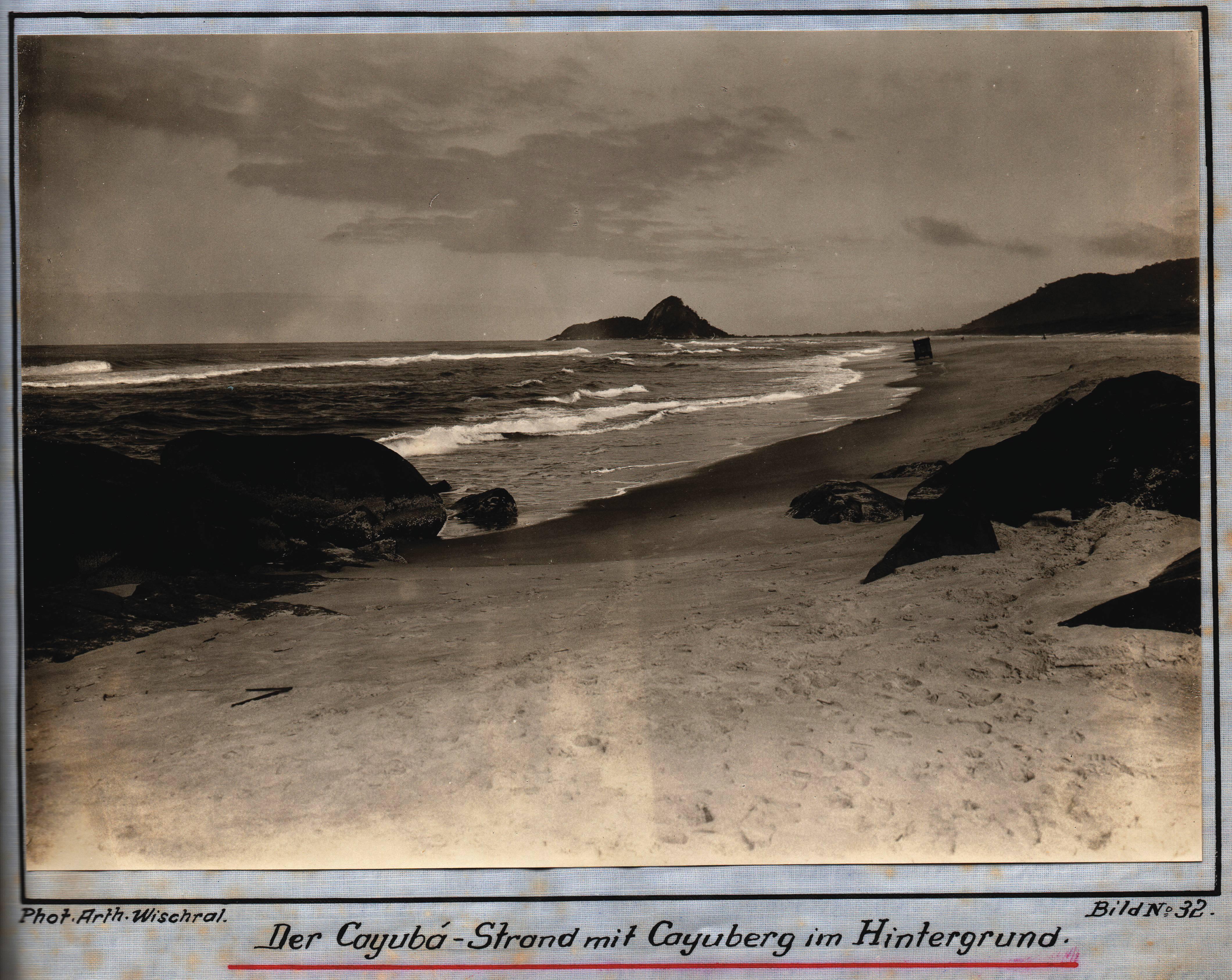 Praia de Caiobá, 1927, por Arthur Wischral,(1894-1982).