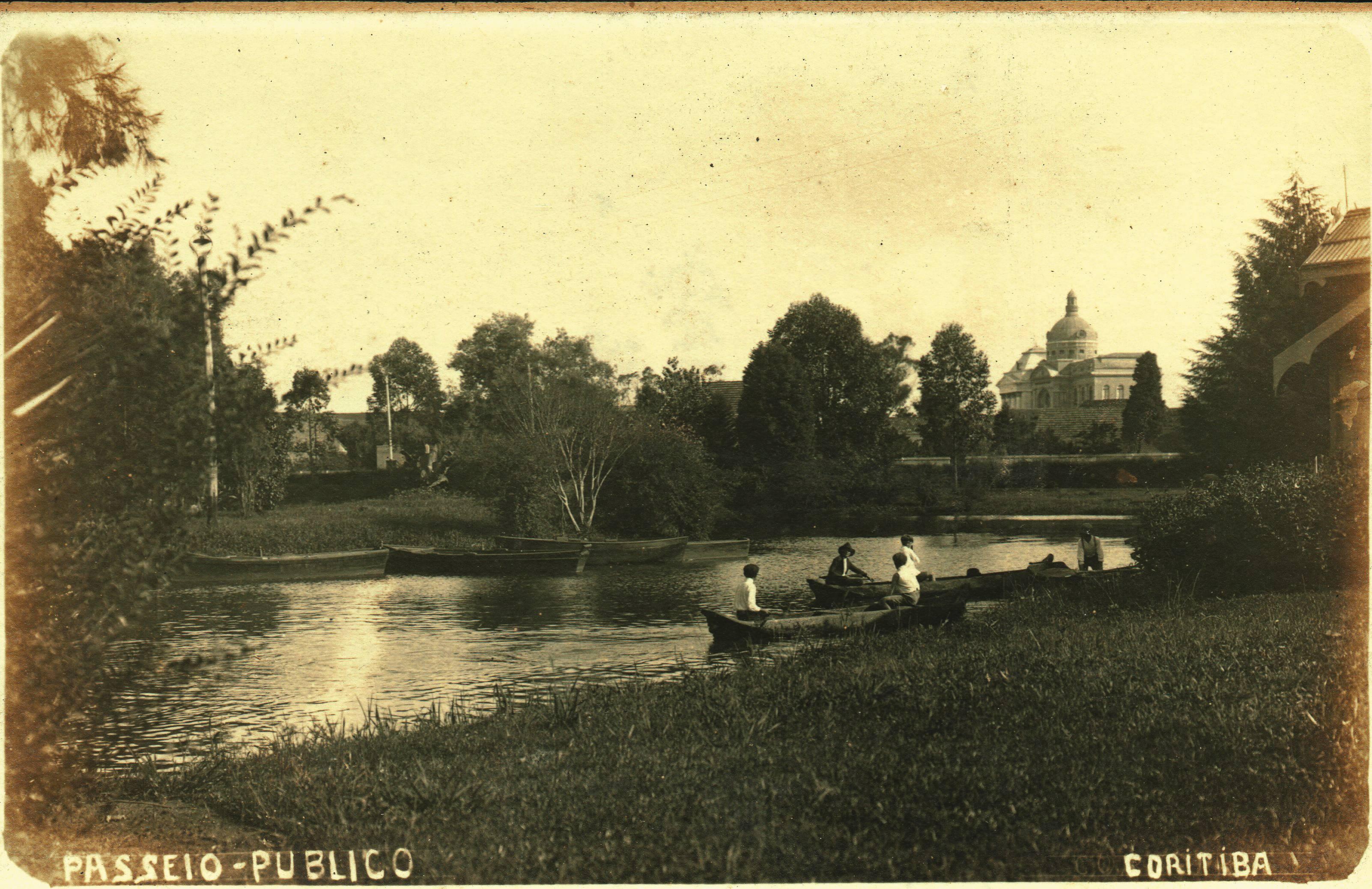 Vista do Passeio Público, em 1928.