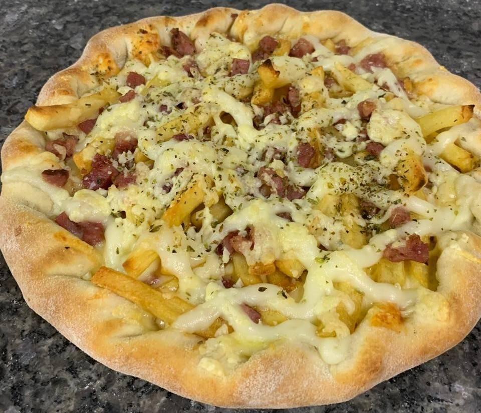 Pizza de batata frita da Dom Alberto. Foto: Divulgação/Vina