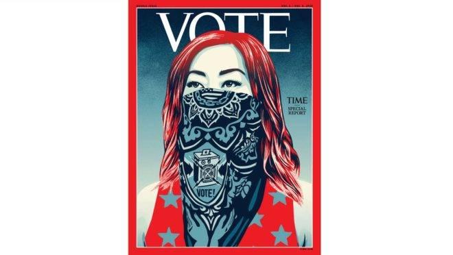 Pela primeira vez em quase 100 anos, a revista Time mudou logotipo em ocasião das eleições de 2020 nos EUA.