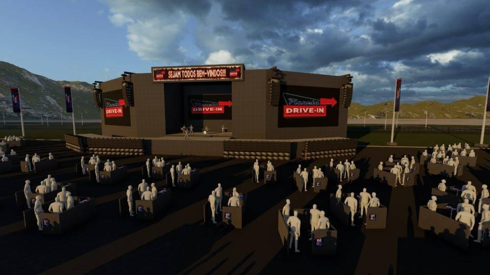 Grande Curitiba inaugura primeira arena de shows com distanciamento social