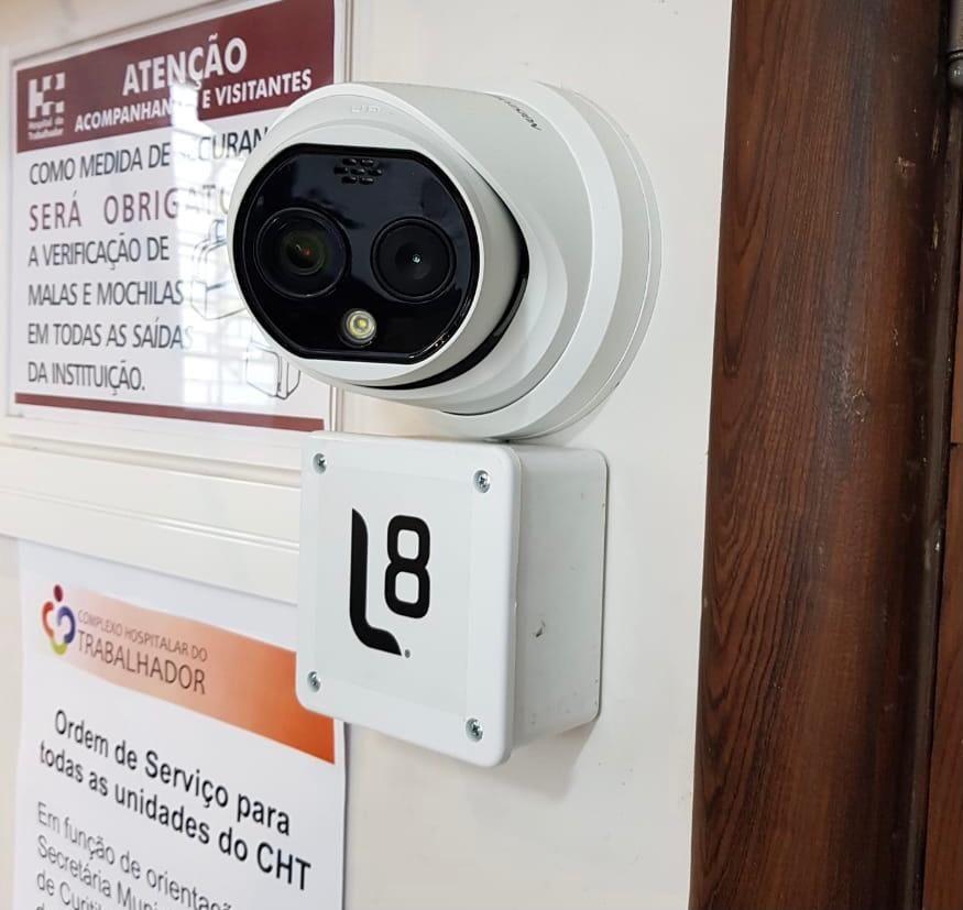 O aparelho instalado no Hospital do Trabalhador, em Curitiba.