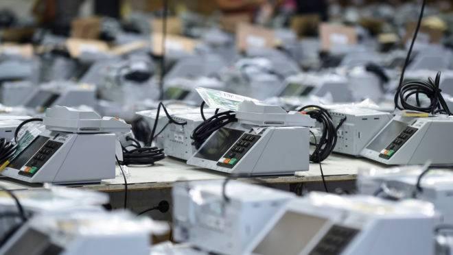 Urnas eletrônicas das eleições em 2018.