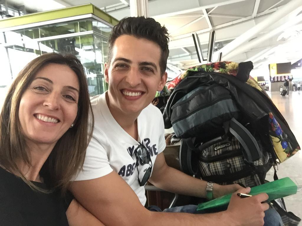 Vania e o primogênito Gianni Junior. Foto: Arquivo pessoal.