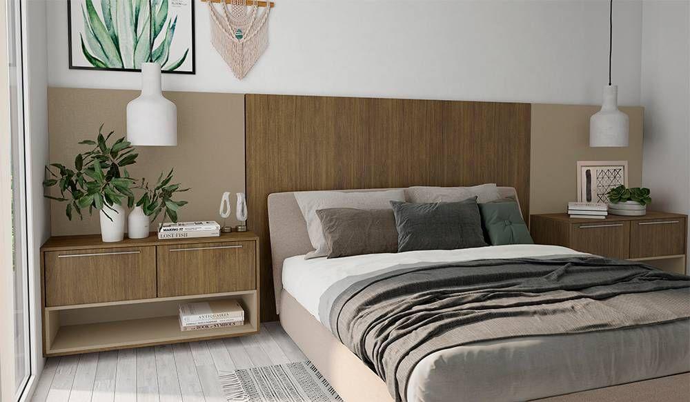 Dormitório executado com chapas de MDF com proteção contra micro-organismos. Foto: Divulgação/Guararapes