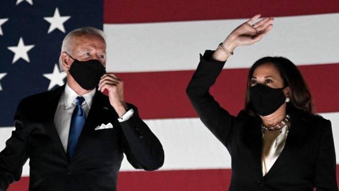 Joe Biden e Kamala Harris, candidatos democratas à presidência e vice-presidência dos EUA
