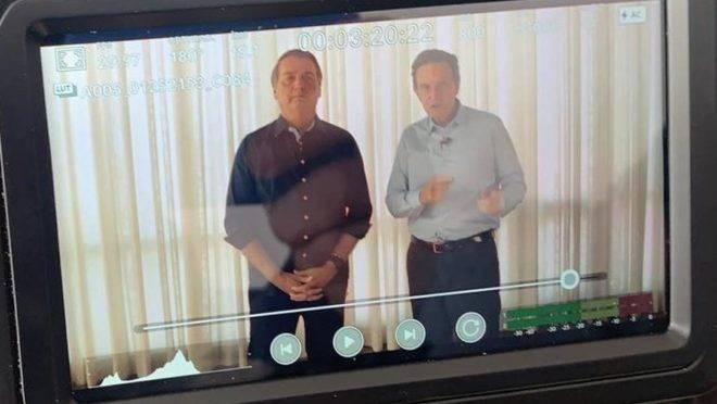 Bolsonaro e Crivella gravaram um vídeo para reforçar a campanha de reeleição à prefeitura do Rio.