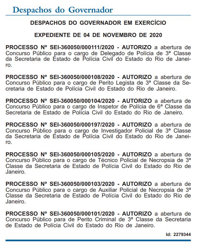 Diário Oficial do Rio de Janeiro de 5 de novembro de 2020