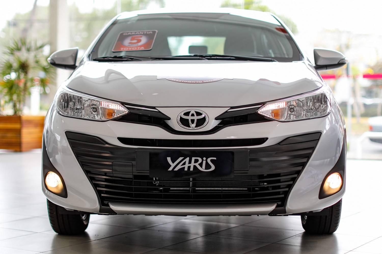 Toyota Yaris na concessionária Sulpar, em Curitiba
