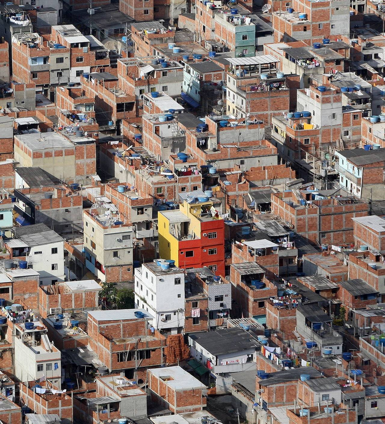 Vista aérea da favela de Rio das Pedras, no Rio de Janeiro